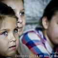 Paulina, Nastja and Katja, bombed out children of Donetsk