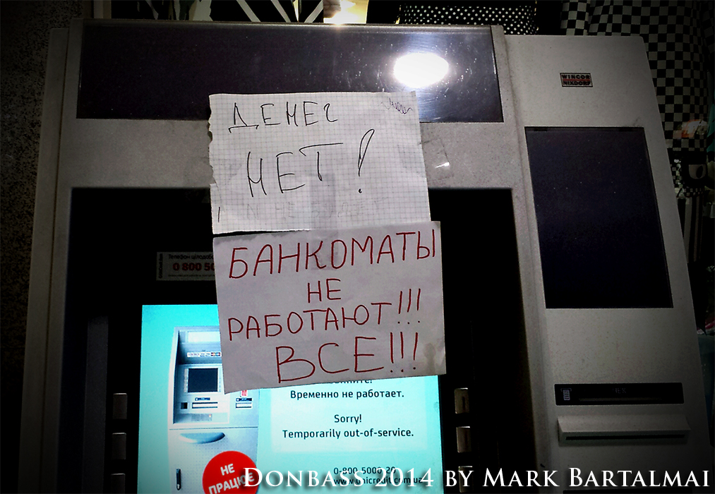 No money in Donetsk